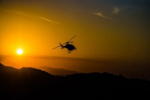 helicopter and the sun
