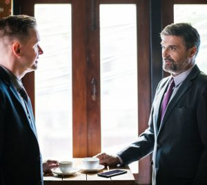 lawyer and client talking