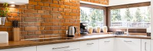 Modern kitchen with best bamboo benchtops