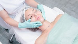 Woman visiting a cosmetic dermatology in Melbourne